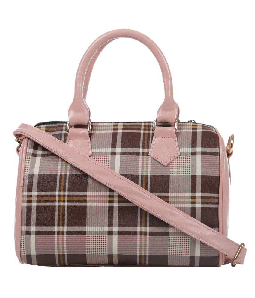 Ebry Pink P.U. Shoulder Bag