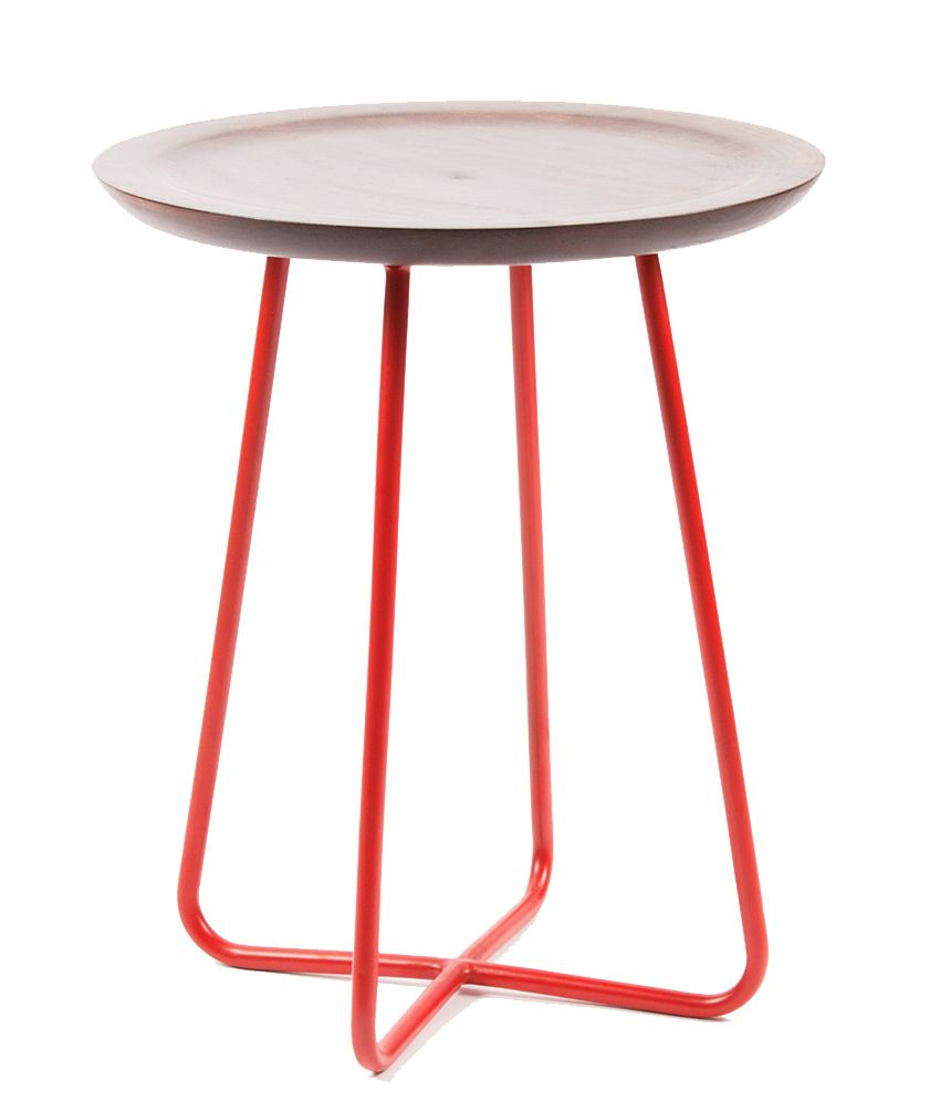 Orange Tree Criss Cross Side Table in Red