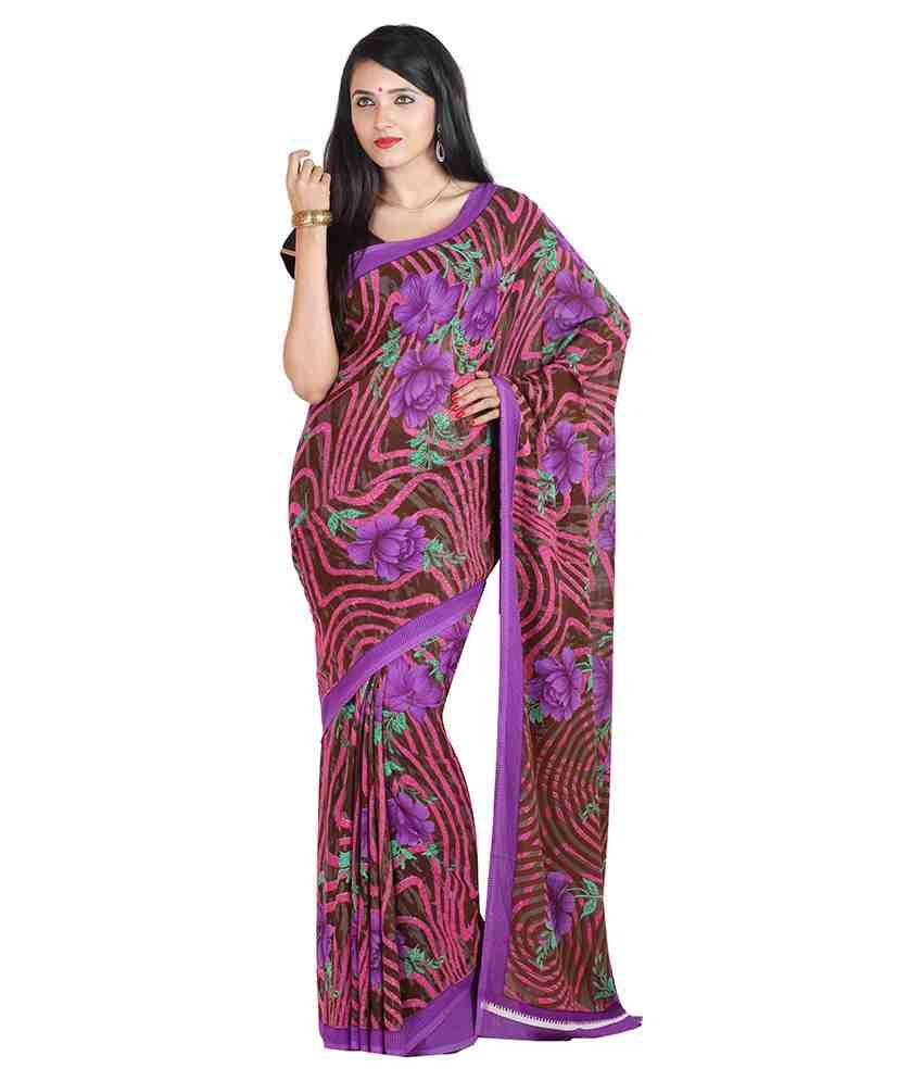 Vaishnav Multi Color Silk Saree