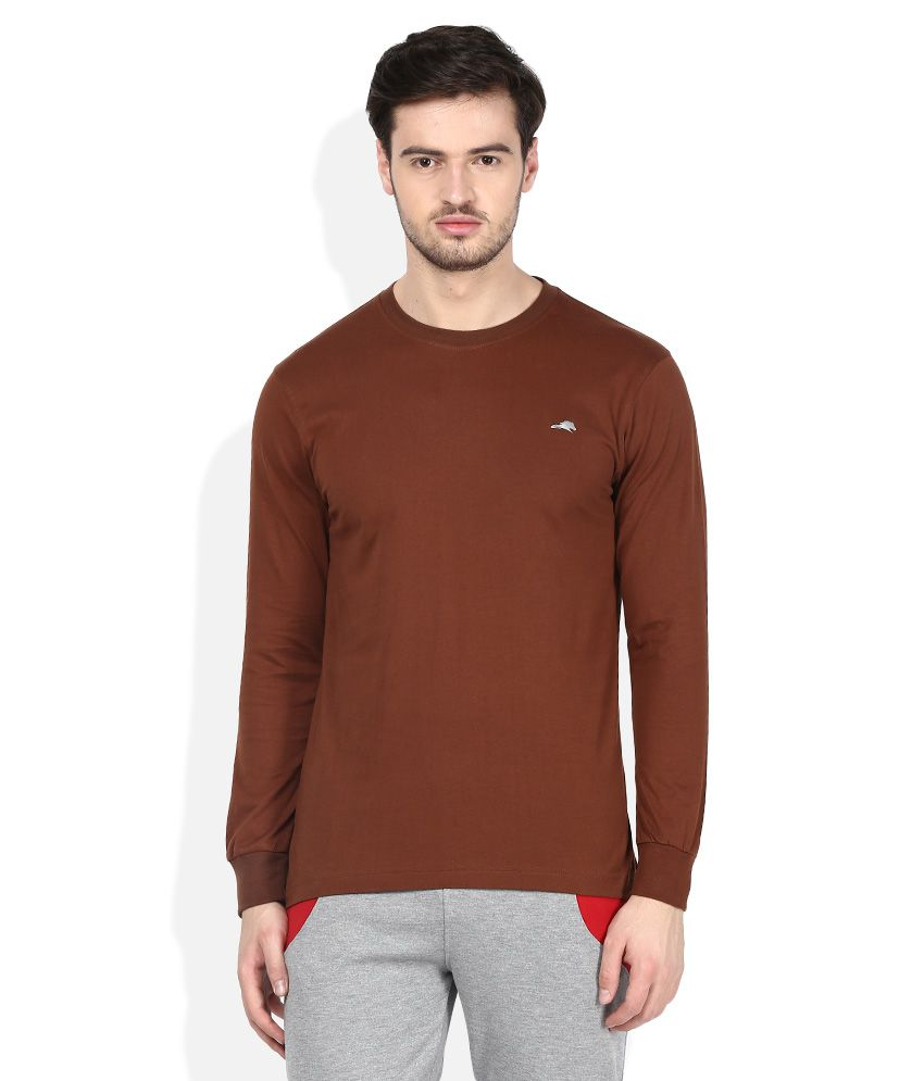 2go Brown Round Neck T-Shirt