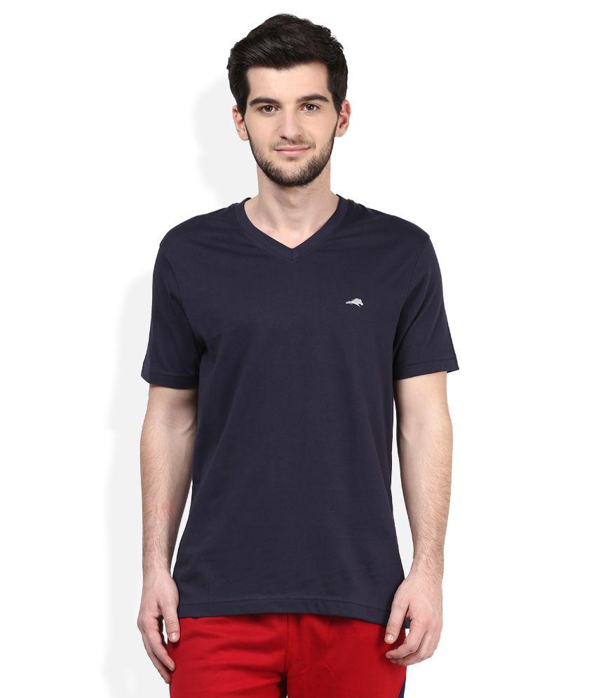 2go Navy V-Neck Solids T-Shirt