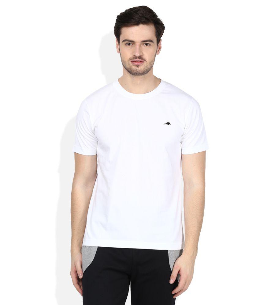 2go White Round Neck T-Shirt