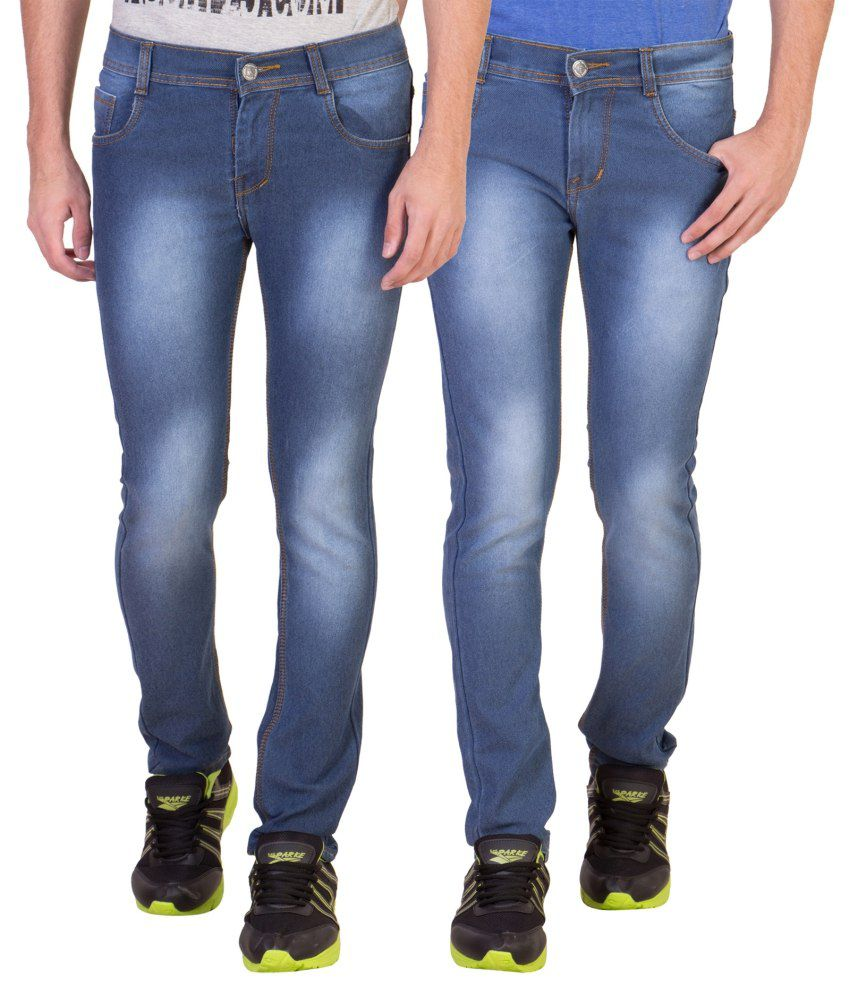 American-elm Multi Slim Fit Faded Jeans Pack of 2