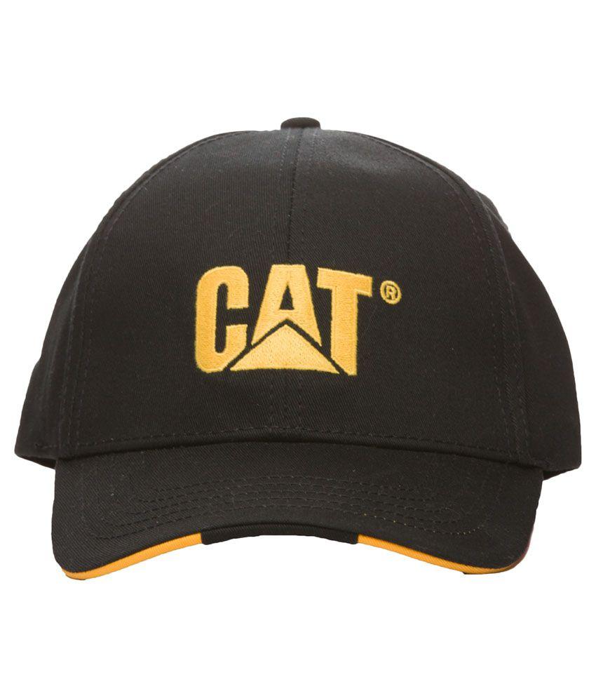 Caterpillar Black Baseball Cap for Men