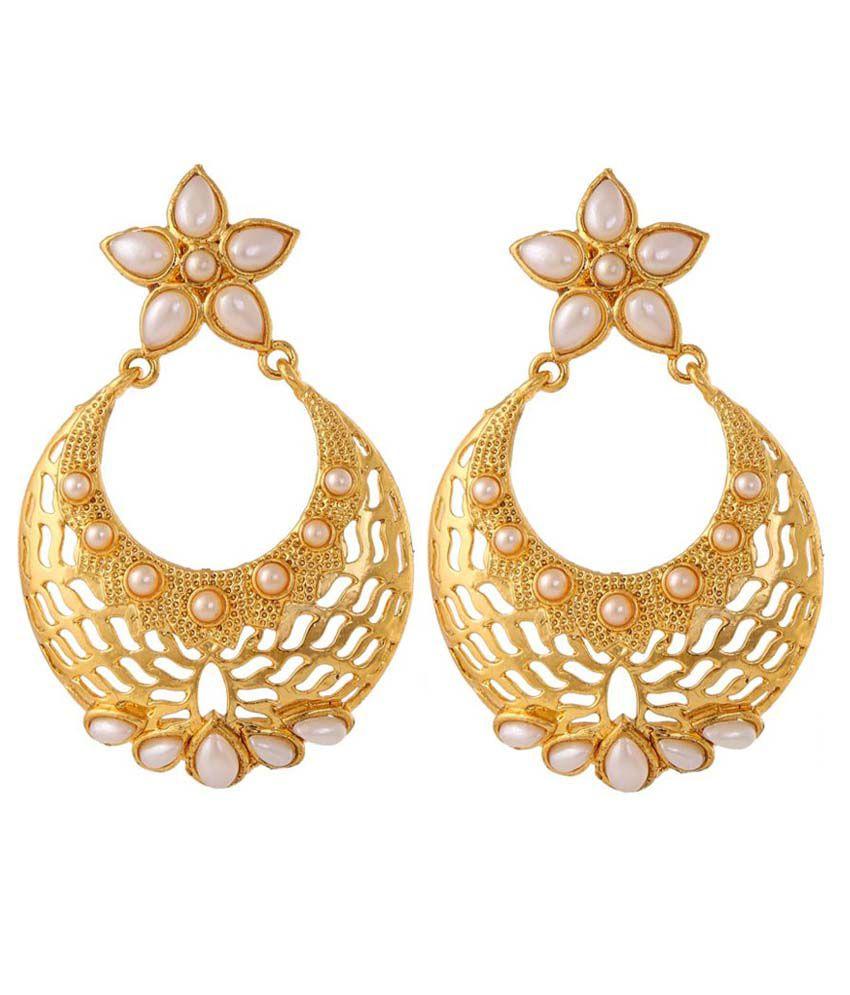 Dancing Girl White CZ Designer Earrings
