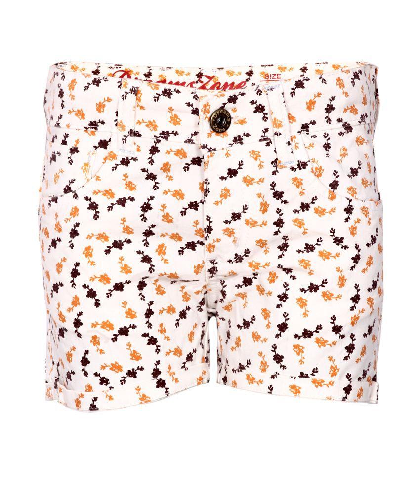 Dreamszone Orange Shorts For Girls