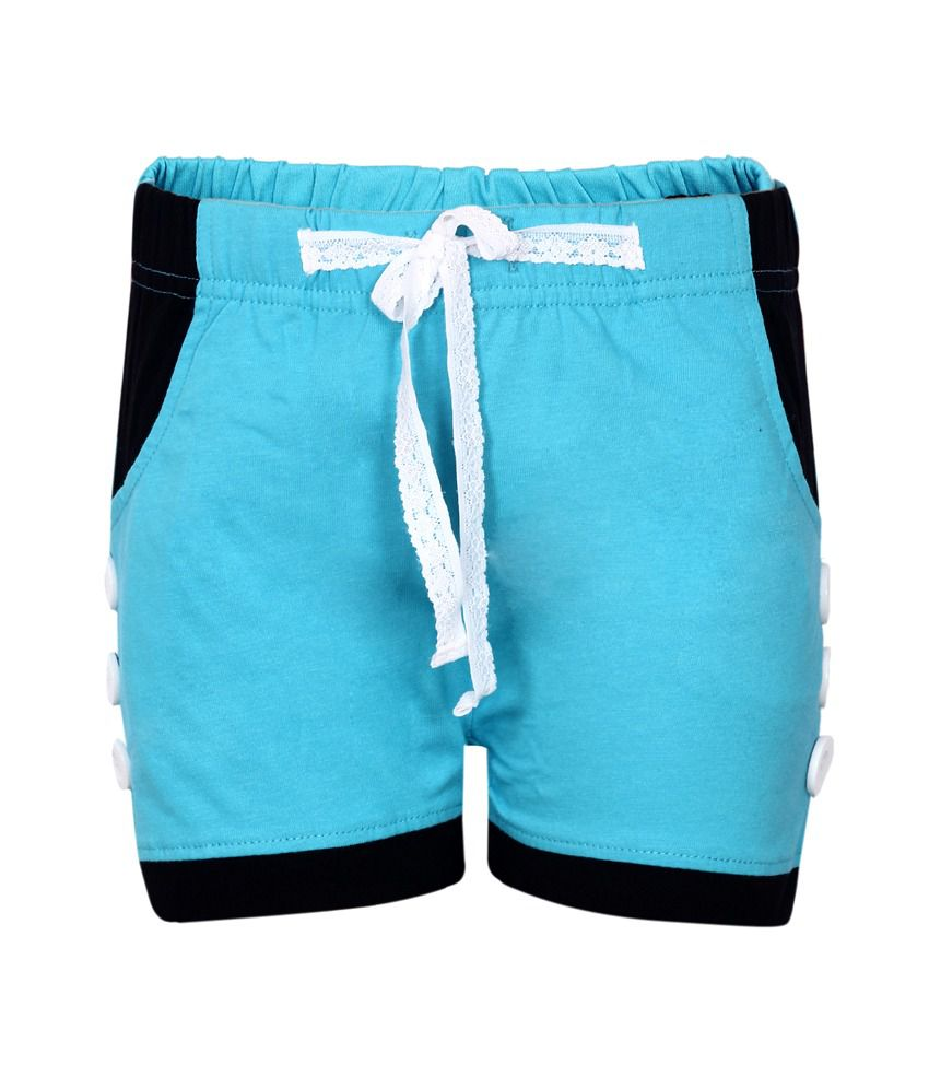 Dreamszone Turquoise Shorts For Girls