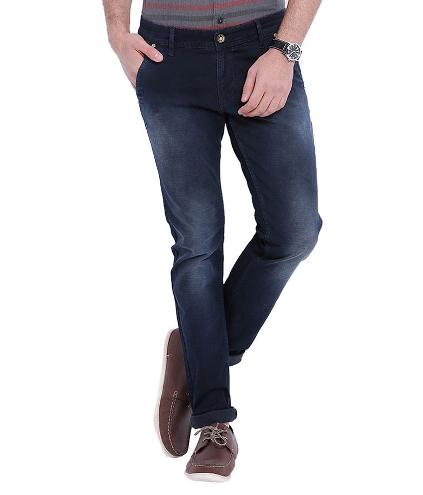 Skie Studio Blue Slim Fit Washed Jeans