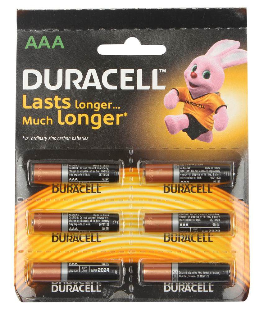 Duracell Alkaline Battery Aaa 6'S With Duralock Technology