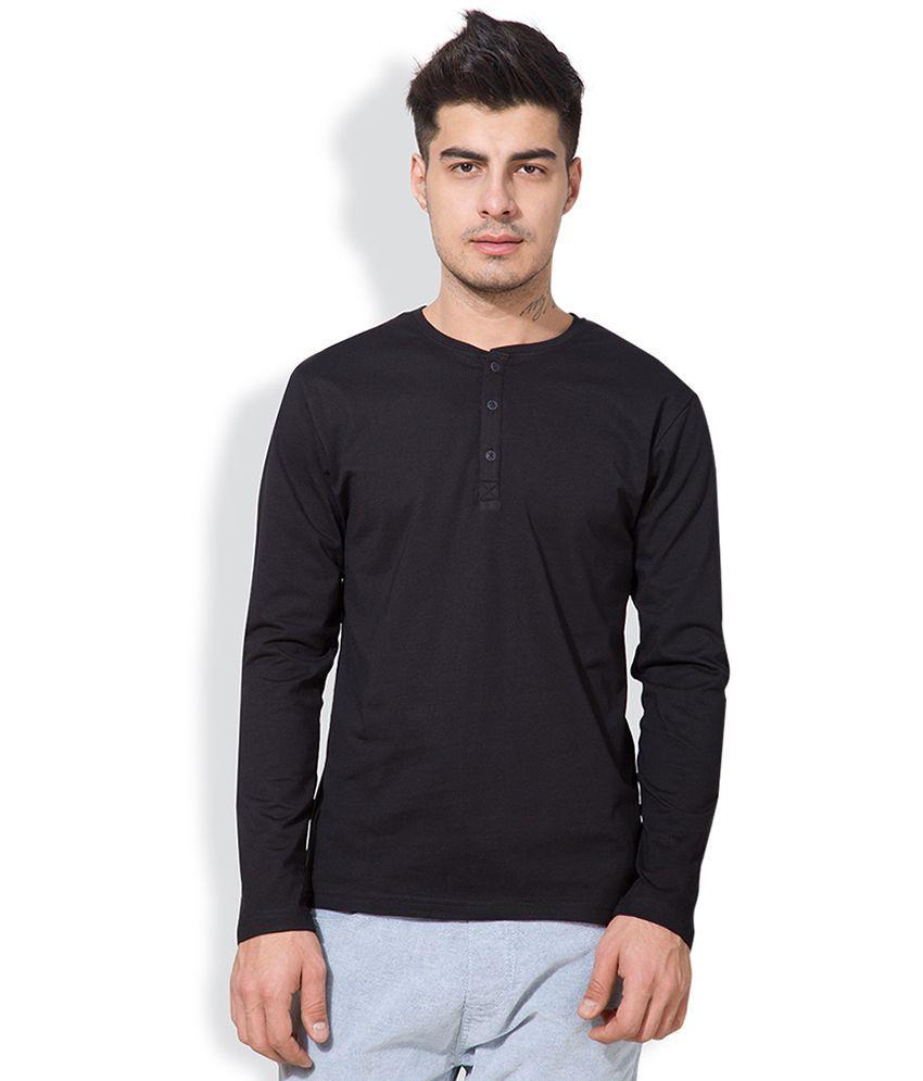 Highlander Black Henley Neck T Shirt
