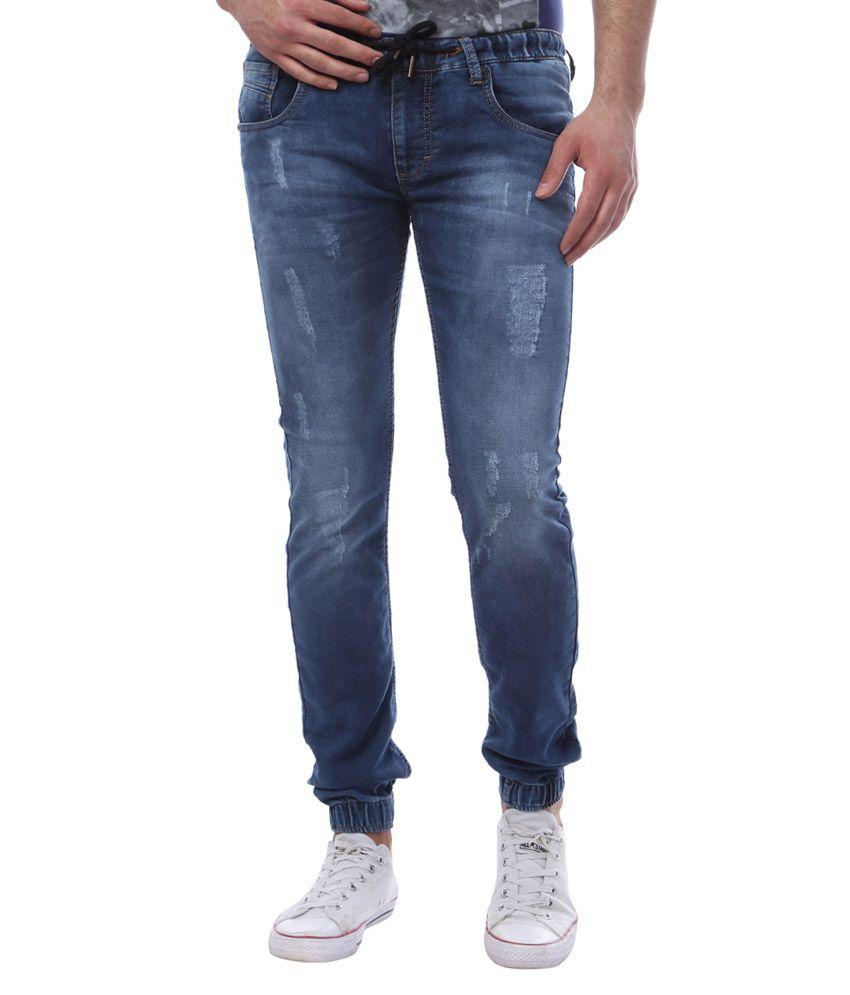 Vintage Blue Slim Fit Jogger Jeans