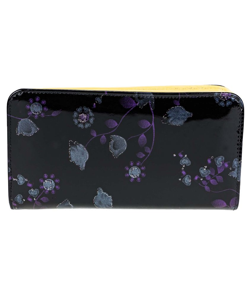 Zeva Black Casual Wallet for Women