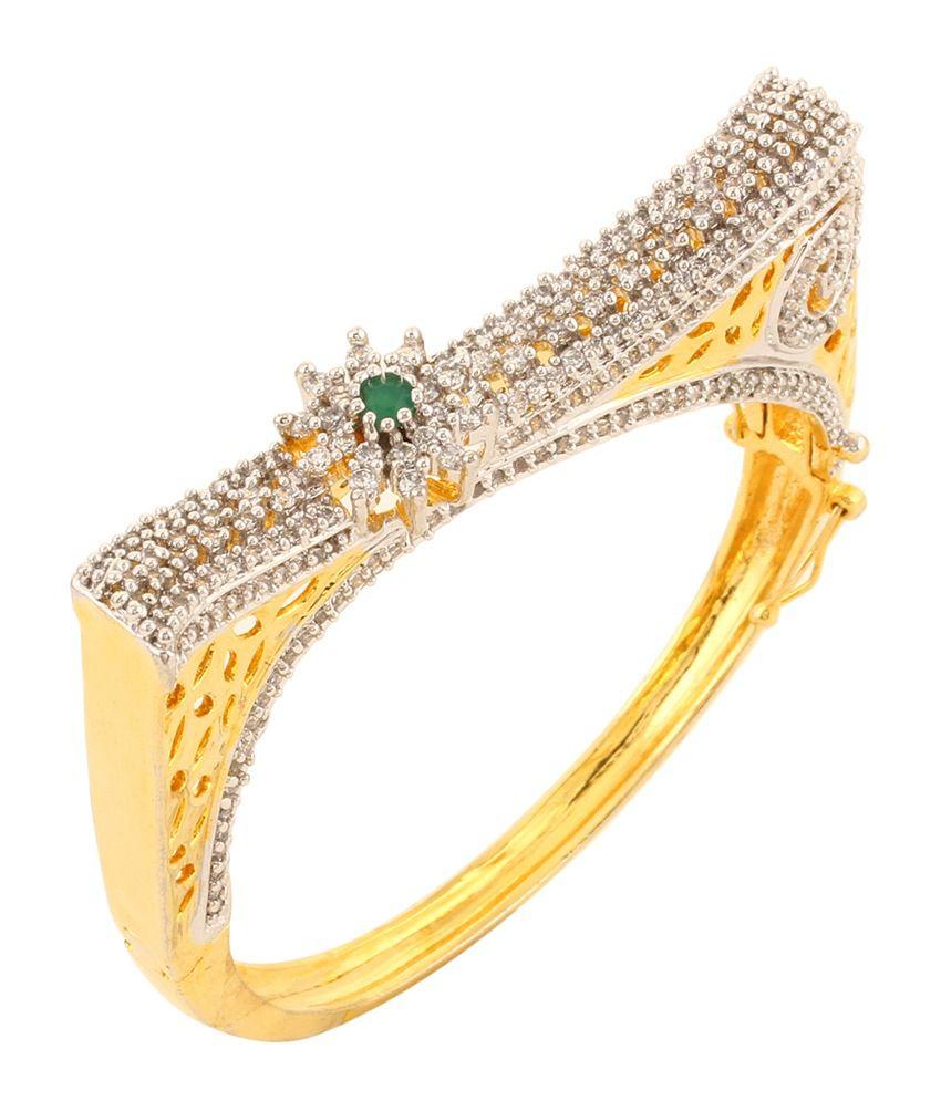 Dilan Jewels Green American Diamond Designer Bracelet