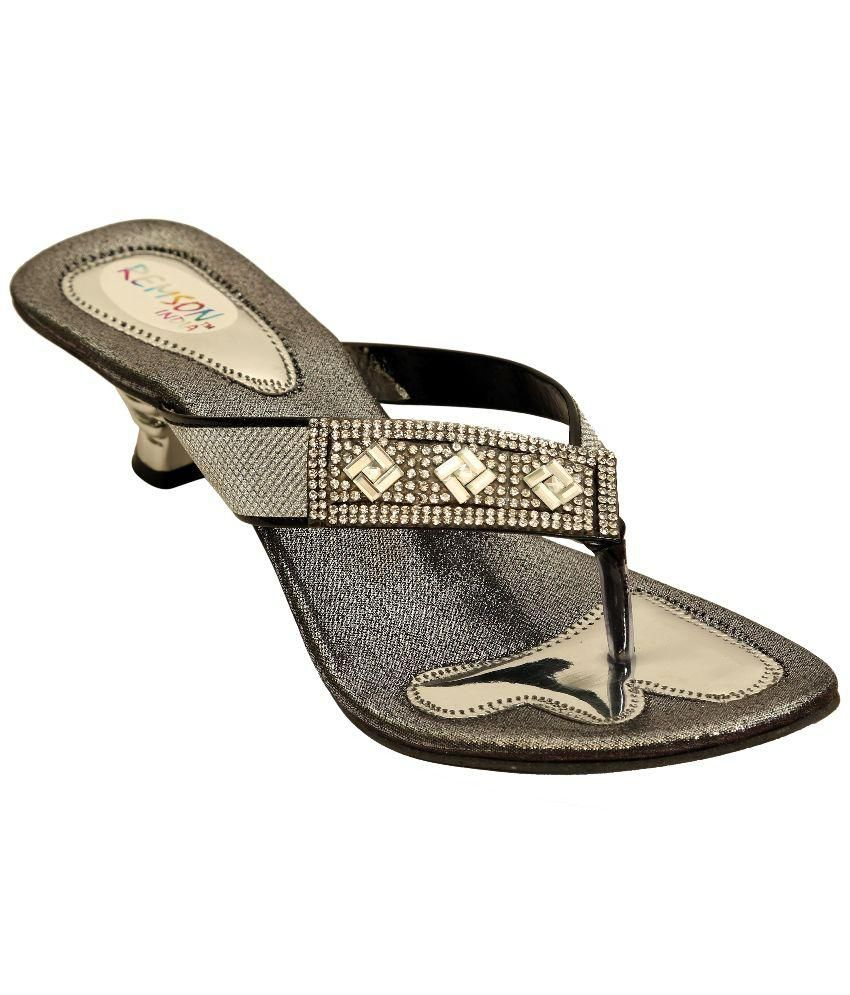 Remson India Black Ethnic Footwear