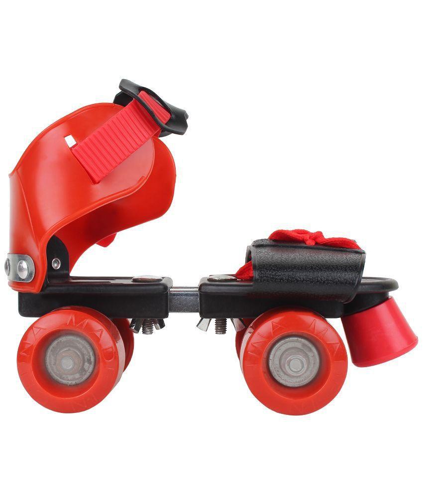 Roller skating shoes buy online -  Zeemon Red And Black Adjustable Roller Skates Shoes