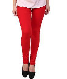 Hunar Garments Red Cotton Leggings