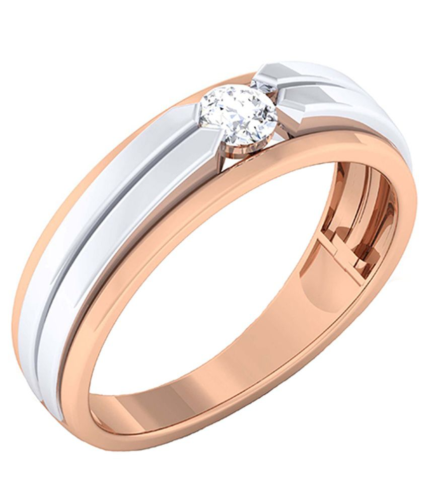 Alankar Diamonds 18kt Rose Gold and White Gold Couple Band