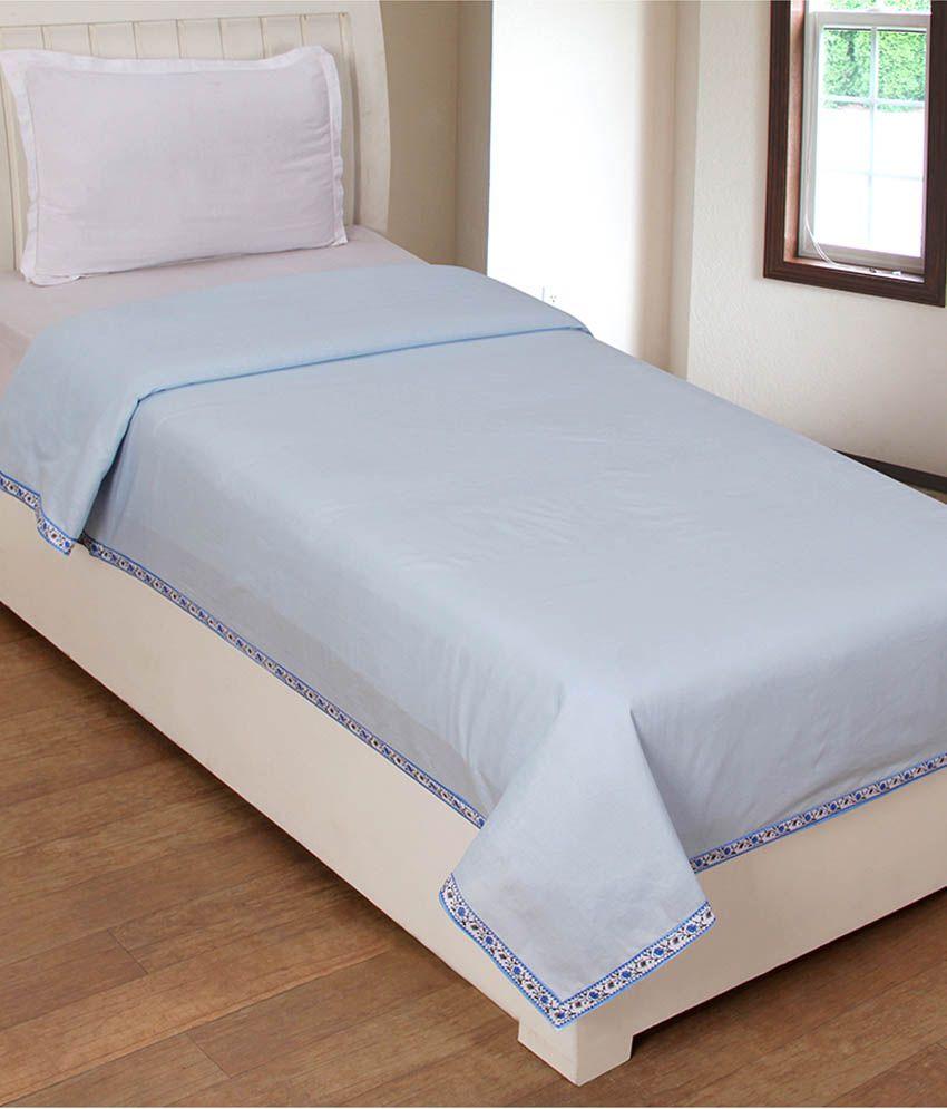 elegance blue cotton single top sheet buy elegance blue
