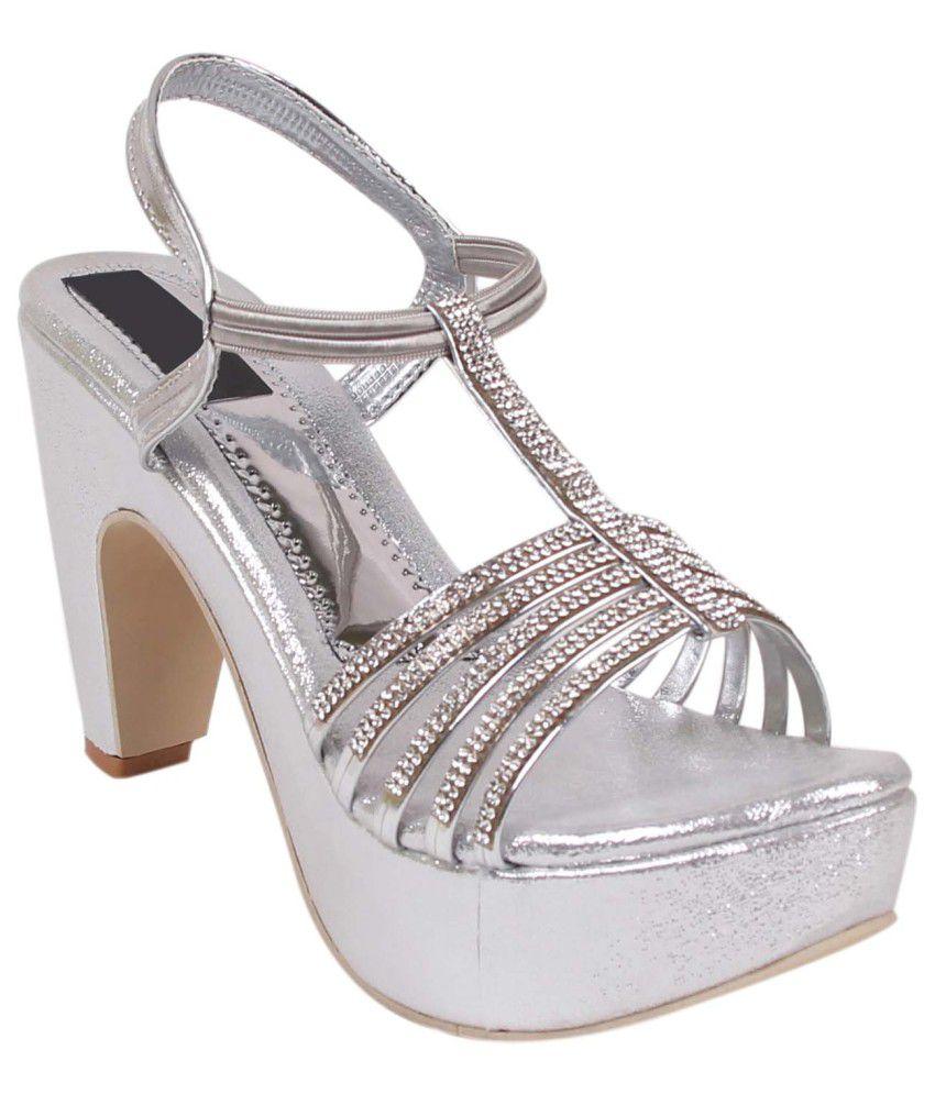 Footshez Silver Stiletto Heels