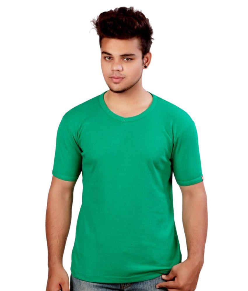 Jain Uniforms Green Round T Shirts