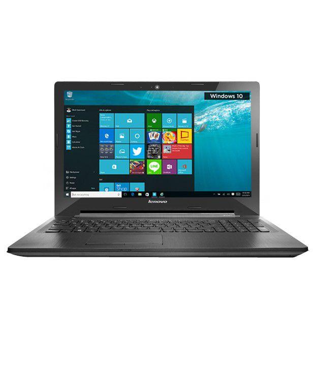 Lenovo G50-45 Notebook (80E3022BIH) (AMD APU E1- 4GB RAM- 500GB HDD- 39.62 cm (15.6)- Windows 10) (Black)