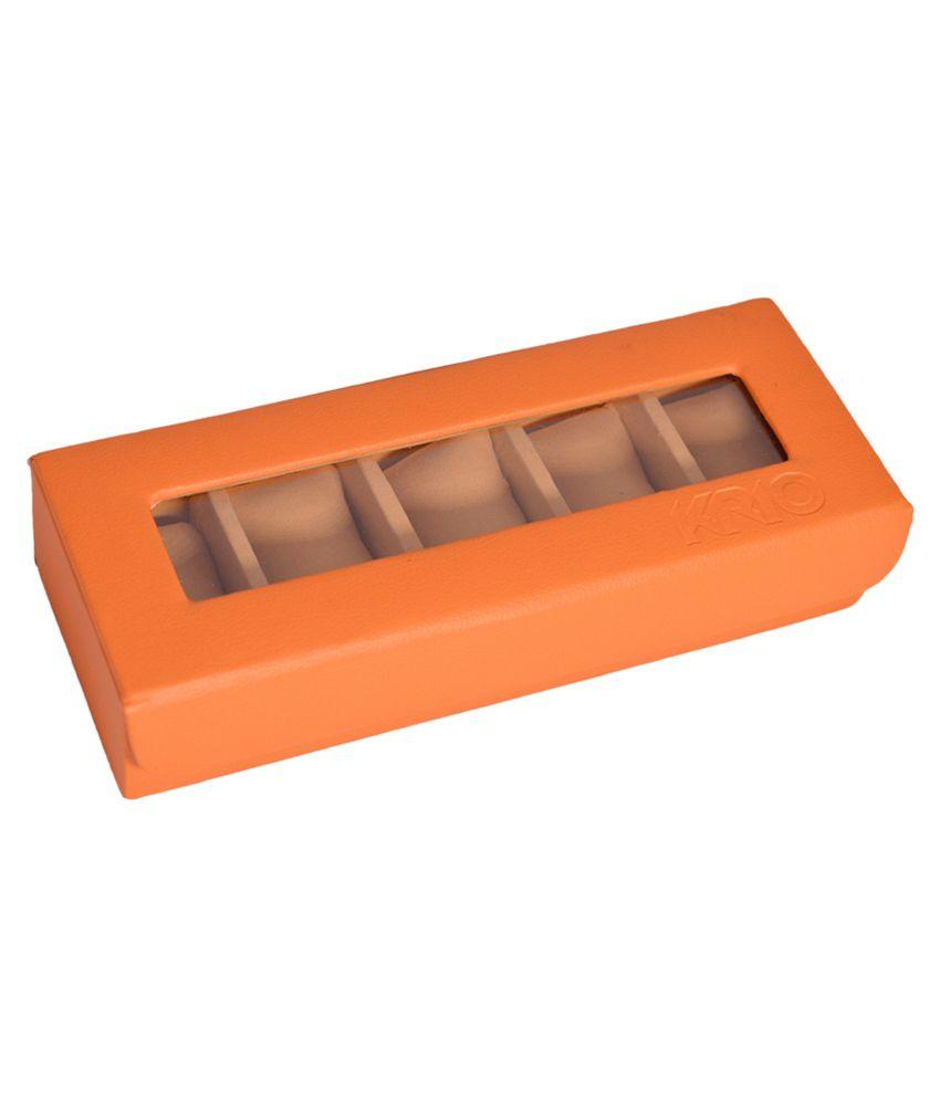 Krio Designs Orange P.U. Watch Case