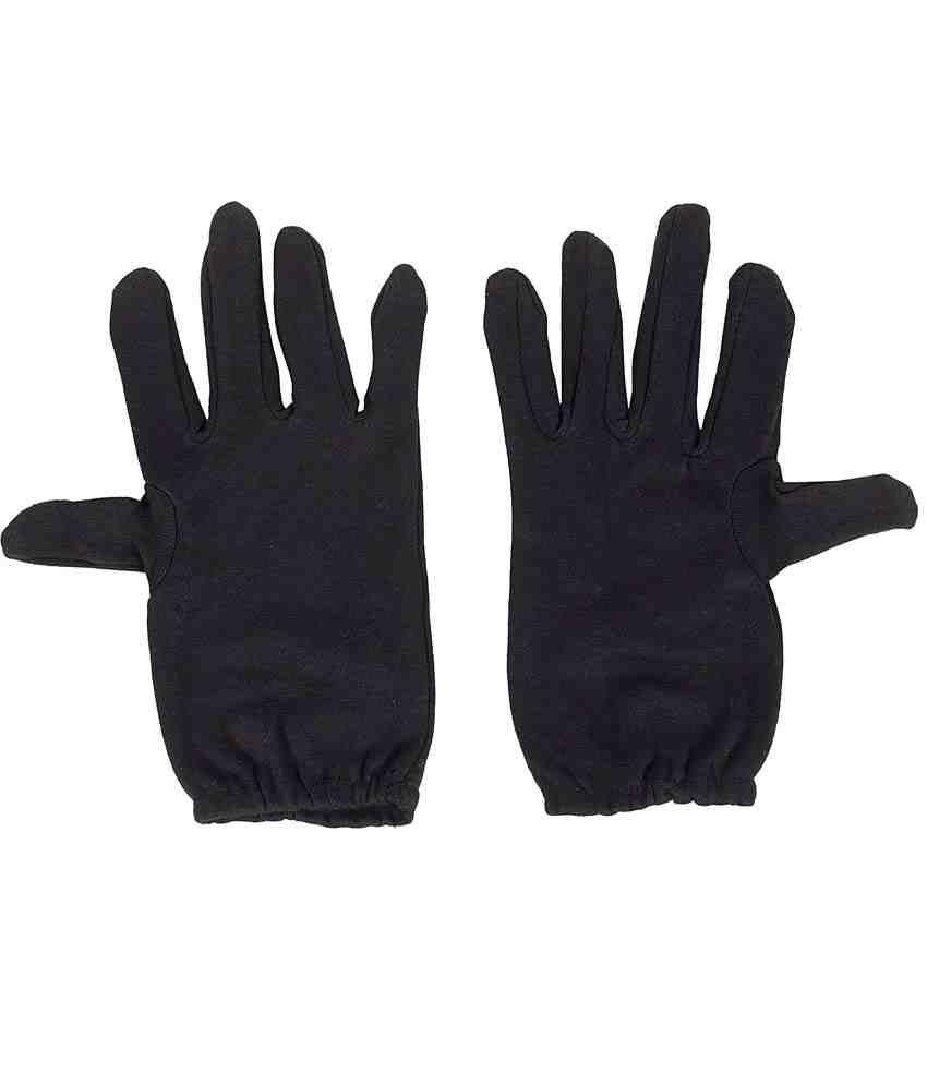R.j.von Black Driving Gloves For Women