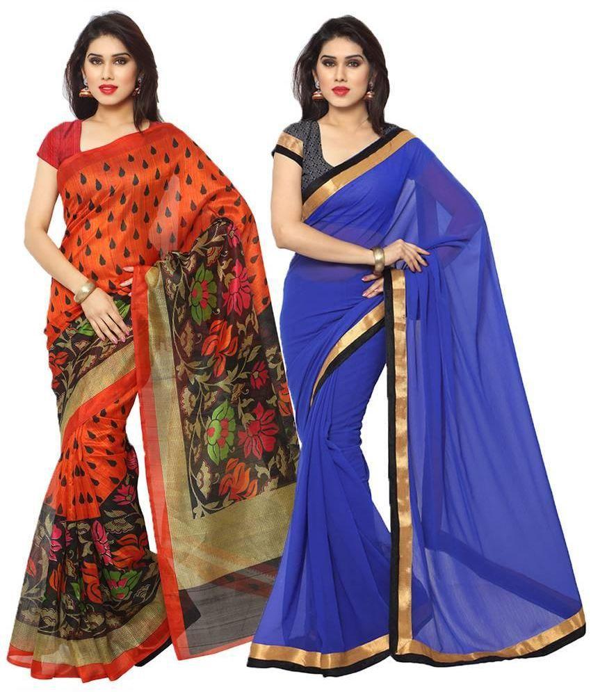 Suchi Fashion Multicoloured Art Silk Saree Combos