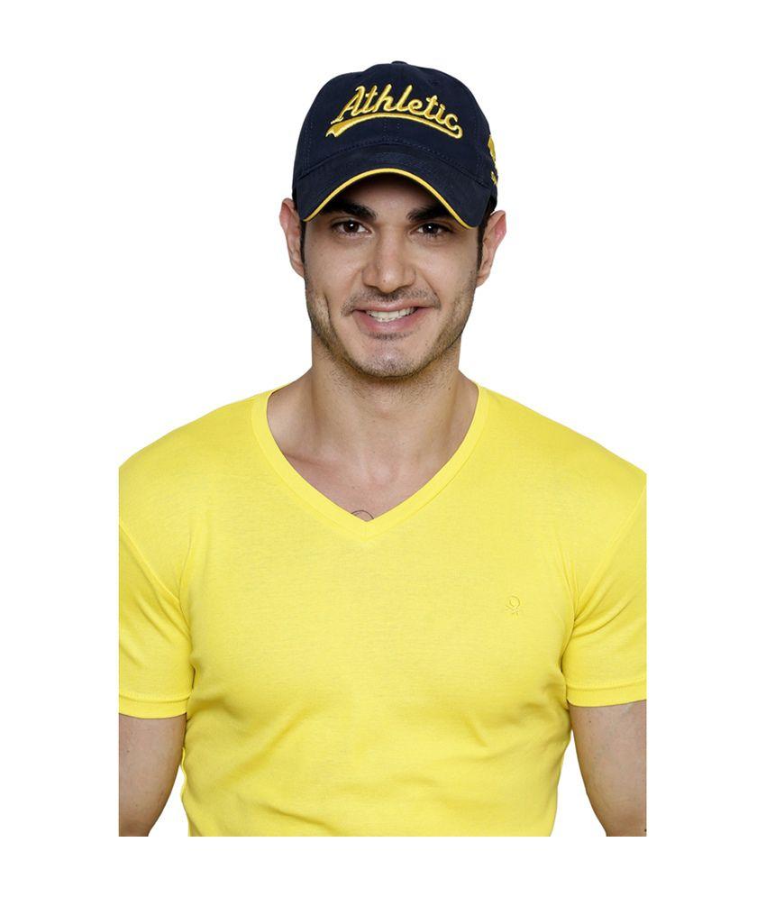 Sportigo Athletic Series Baseball Cap - Dark Blue & Yellow