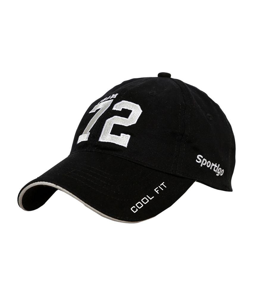 Sportigo Team 72 Black & Silver Baseball College Cap