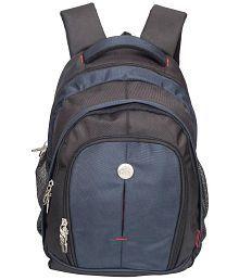 Cosmus Renault Big Backpack for 17 inch Laptop - Travel Laptop Bag / Travel Backpack Bag (Black & Navy Blue)