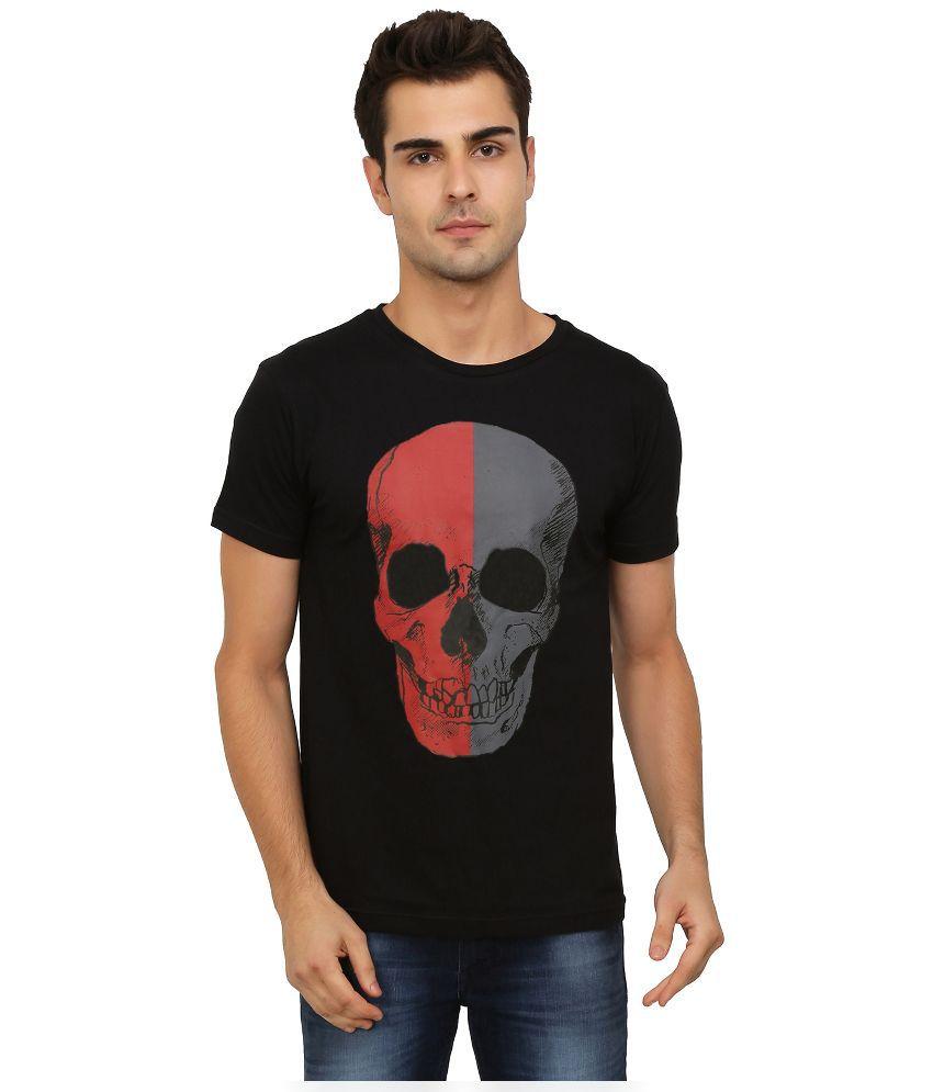 Imagica Black Round T Shirt