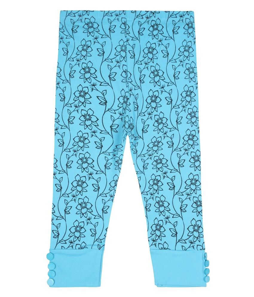 Jazzup Blue Cotton Blend Capris