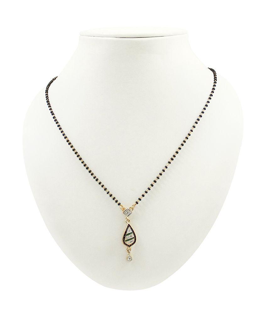 Sarita Golden American Diamond Designer Mangalsutra