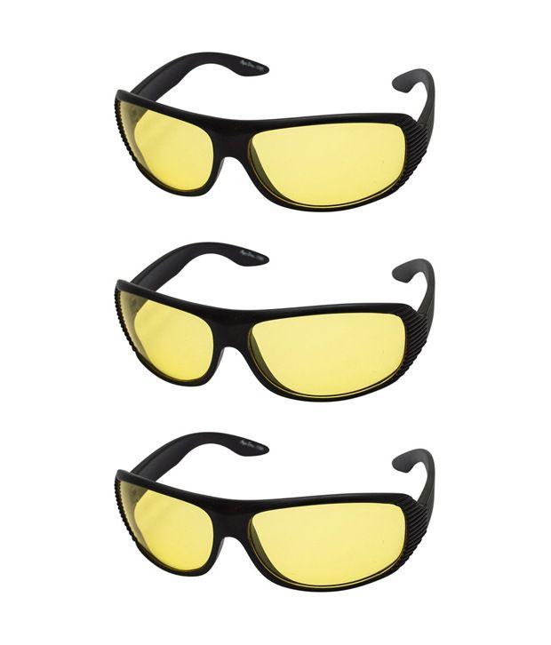 Quoface Yellow Wrap Around Sunglasses ( 701 )