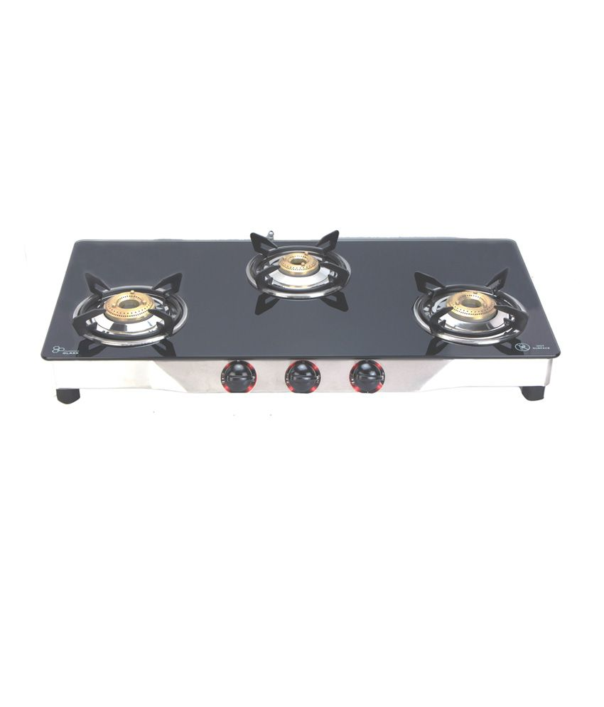 Surya 206 Manual Ignition Gas Cooktop (3 Burner)