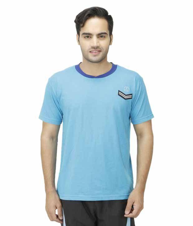 1OAK Blue Round T Shirt
