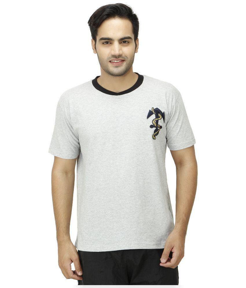 1OAK Grey Round T Shirt