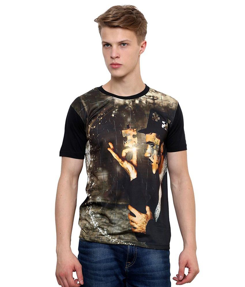 Okane Black Round T Shirt