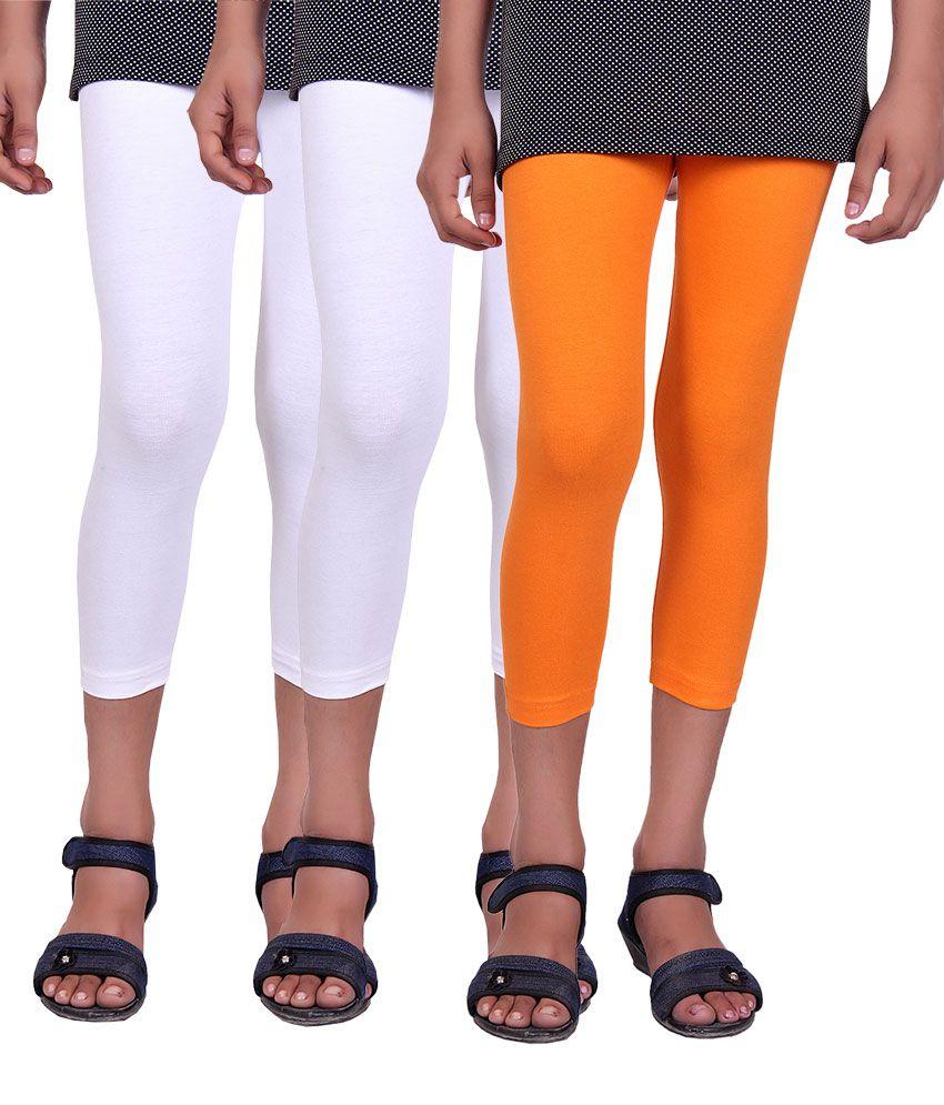 Alisha Multicolour Cotton Lycra Capri - Pack Of 2
