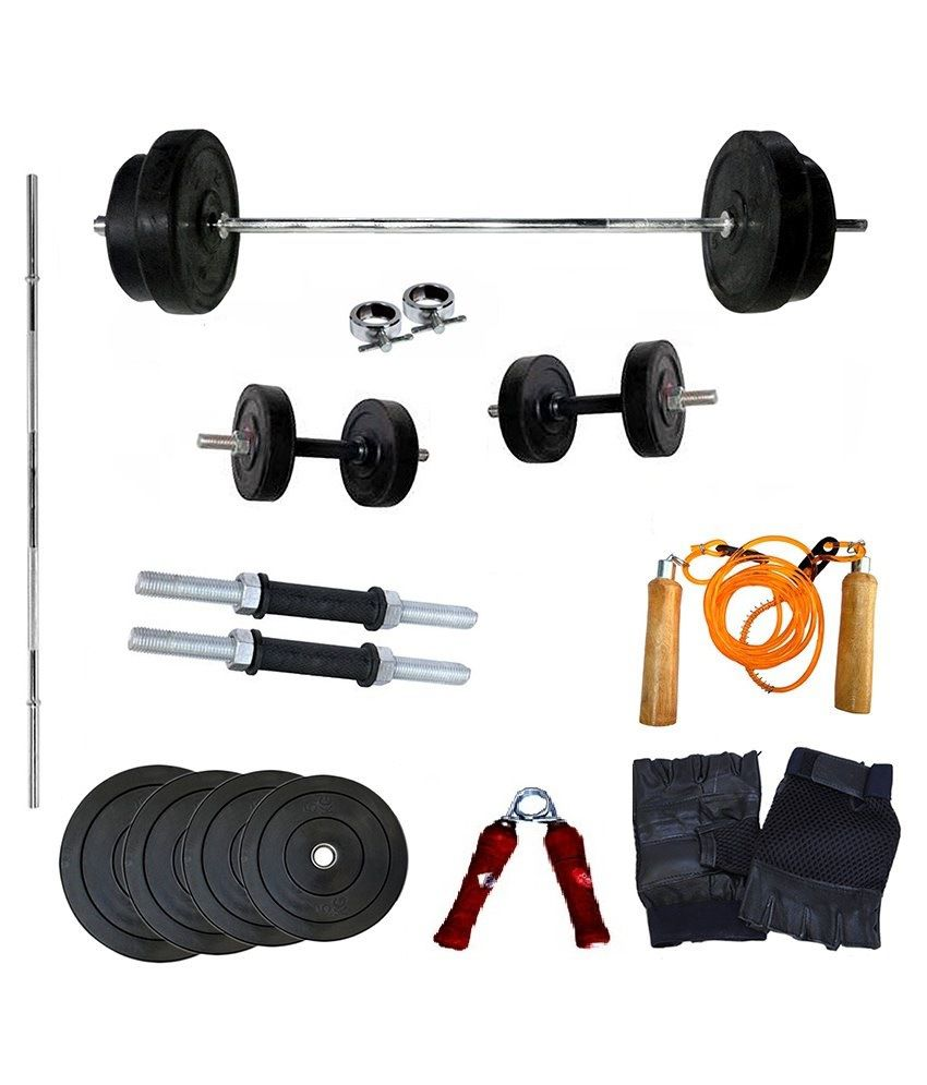 wolphy 30 kg home gym set buy online at best price on snapdeal. Black Bedroom Furniture Sets. Home Design Ideas