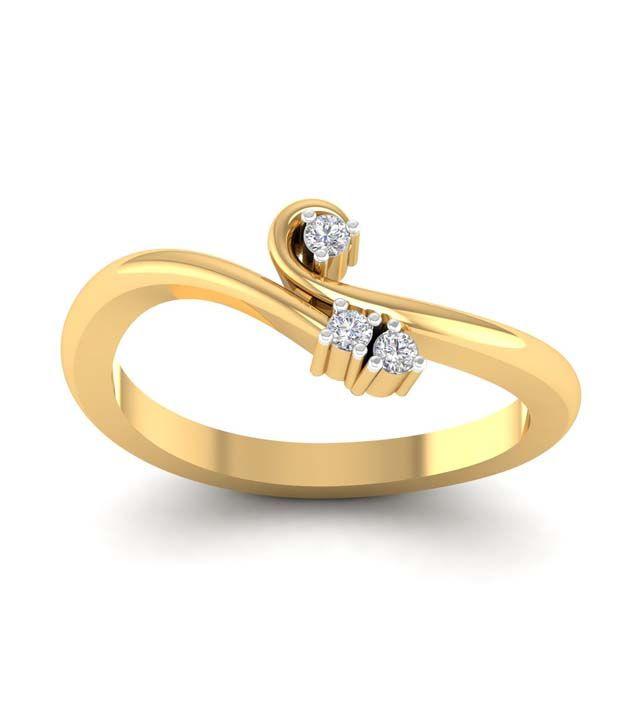 Abhijewels 18K Gold Diamond Ring