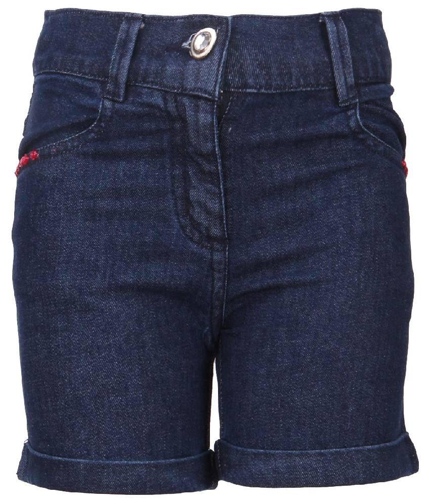 Cool Quotient Blue Cotton Shorts