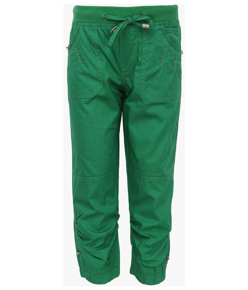 Cool Quotient Green Cotton Capris