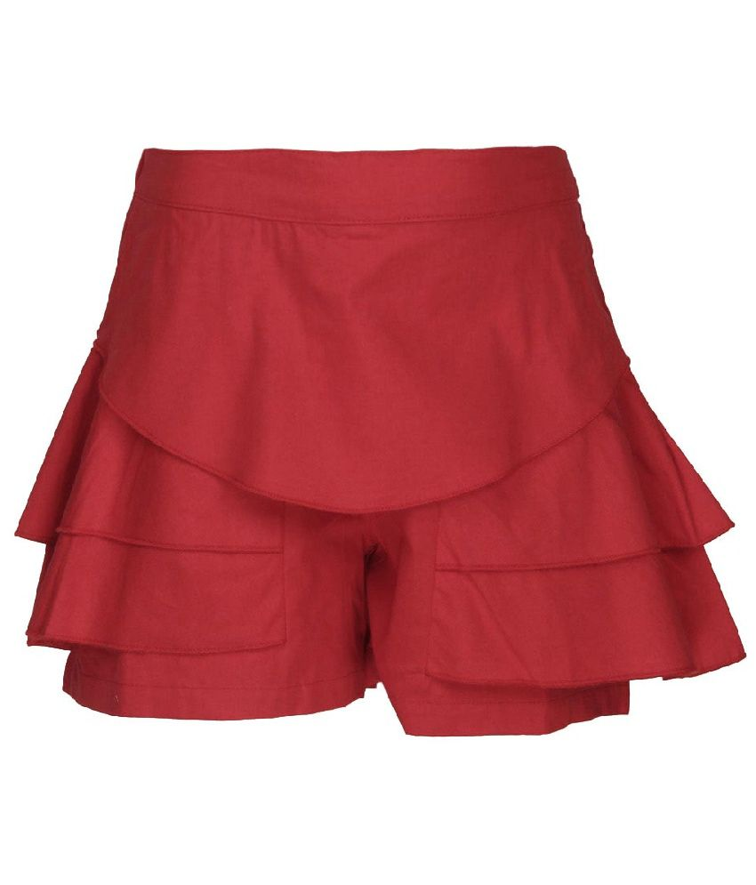 Cool Quotient Red Cotton Shorts