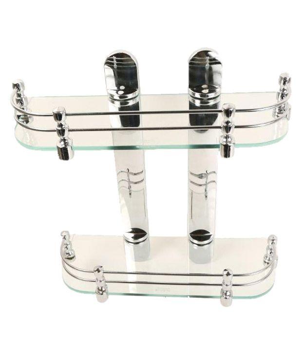 Royal Indian Craft 18 Inch Transparent Glass Shelves