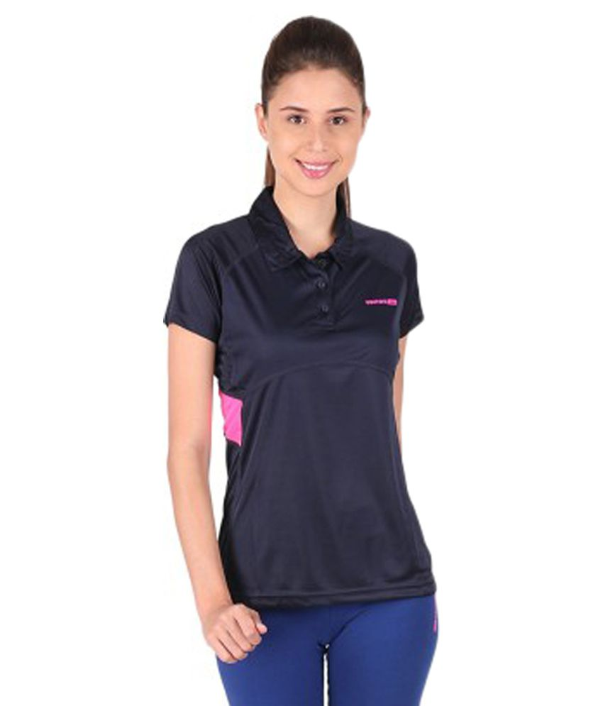 Vector X Solid Women's Polo Neck T-Shirt