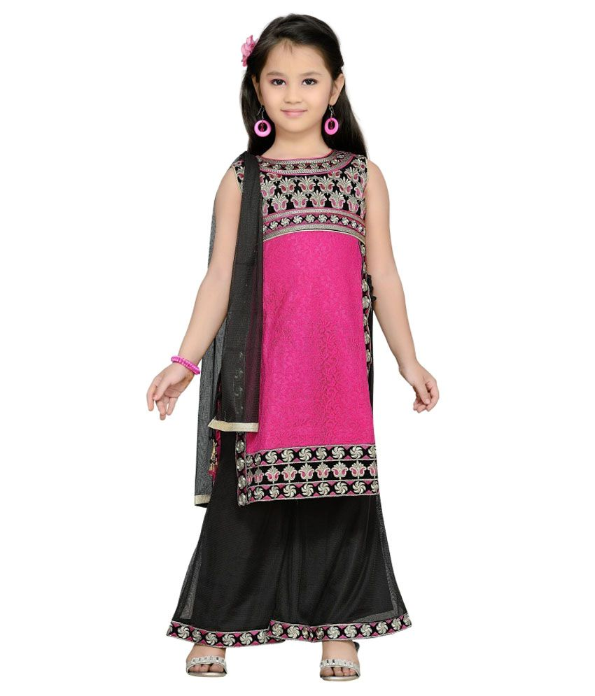 bbe5d19c5ee3 Aarika Girl's Party Wear Palazzo Suit Set - Buy Aarika Girl's Party Wear  Palazzo Suit Set Online at Low Price - Snapdeal
