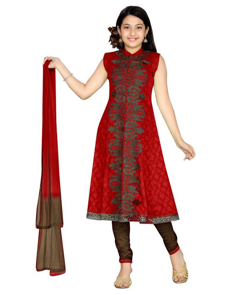 Aarika Girl's Party Wear Churidar Suit