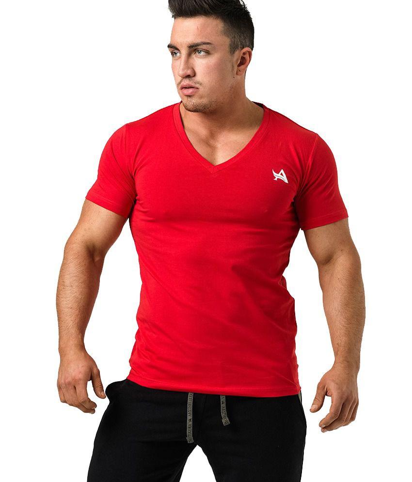 Asthetix Era T-Shirt V-Neck Red/White